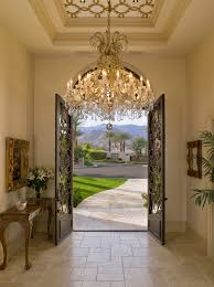 beautiful mediteranean entrance chandelier decor ideas