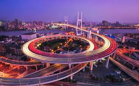 nanpu bridge huangpu river shanghai wallpaper