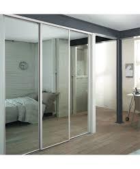 3 white frame mirror sliding wardrobe doors