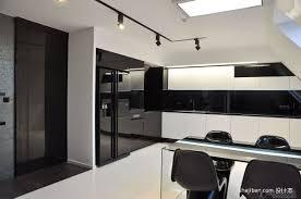 Granite Kitchen Set Contemporary Black And White Kitchen Furniture Set Feat Black