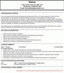 travel agent resume samples resume examples job cv sample cv with travel  agent resume examples -