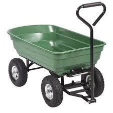 heavy duty poly garden utility yard dump cart garden cart wheel barrow 91