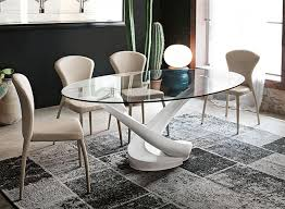 target point modern tango glass and white or graphite dining table thumbnail