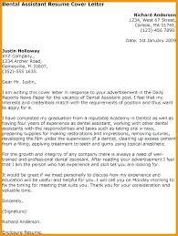 Dental Assisting Cover Letter Dental Assisting Cover Letter