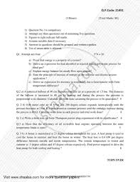 Question Paper - Thermodynamics 2017 - 2018 BE Mechanical ...