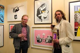 gallery owner frank o dea with derek o shaughnessy at the event photo