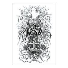 Anděl Kříž Dočasné Tetování Nálepka1521 Cm Flash Tetování Nálepky