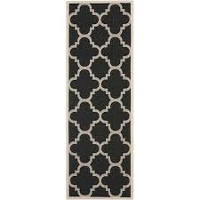 safavieh courtyard black indoor outdoor rug runner 2 4