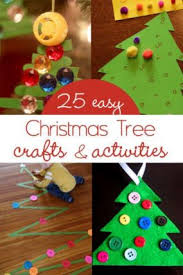 ... 25 easy and cute Christmas tree crafts for kids