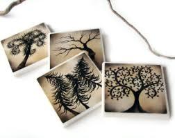 Decorative Tile Coasters Decorative Tile Coasters Green Tree Home Decor Accessory 87
