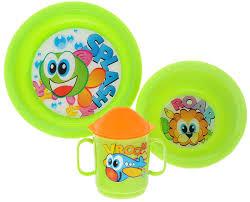 <b>Cosmoplast</b> Набор <b>детской</b> посуды Baby Tris Set Рыбка 3 ...