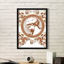 black white frame baroque art angle flower leaf modern ilration pattern simple picture frame art prints of paintings home wall decal