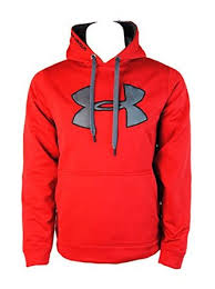 under armour jumper. get quotations · under armour mens storm big logo hoodie sweater jumper - red (small)