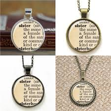 whole sister vintage dictionary definition of sister word pendant necklace keyring bookmark cufflink earring bracelet necklace charms charms for