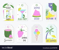 Summer Gift Tags Set Of Summer Gift Tags And Labels
