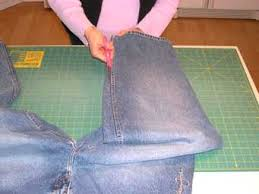 denim quilts patterns - Make a recycled jean denim quilt, see how ... & denim quilt patterns Adamdwight.com