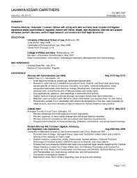 Commercial Law Attorney Resume Attorney Cover Letter Sample