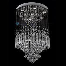 clear crystal chandelier column rain drop sphere ceiling lighting pendant lamp