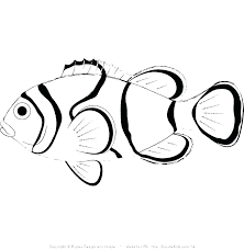 Small Fish Template Coloring Pages Of Fishes Printable Fish Bowl Template Ocean Fish
