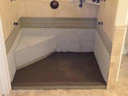 lovely build a shower pan flooring how to build e shower pan for tile how to