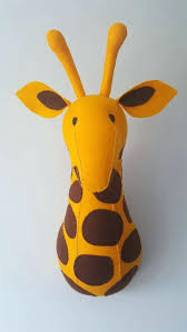 wall mounted stuffed animal heads kids rooms to go giraffe faux taxidermy felt wall mounted stuffed animal heads