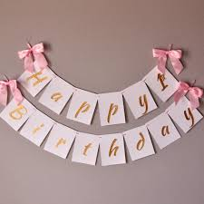 1st birthday banner 1st birthday banner handcrafted in 1 3 business days pink and gold