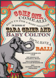 Circus Party Invitation Impressive Circus Themed Baby Shower Invitations