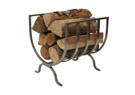 image of creative design fireplace log holder
