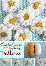 Easy Crochet Flower Patterns Free Mesmerizing 48 Easy Crochet Flower Pattern For Beginners DIY Crafts