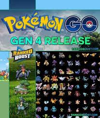 Pokemon Go Generation 4 Release Update Gen 4 Pkmn Go