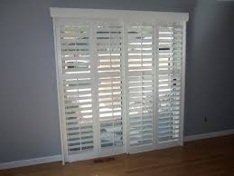 image of large sliding glass door window treatments