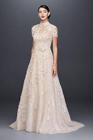 high neck wedding dresses gowns david s bridal