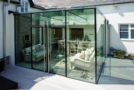 structural glazing with frameless glass doors