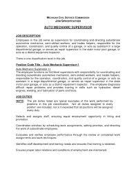 Automotive Mechanic Job Description Responsibilities Yun56 Co