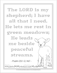 The Lord Is My Shepherd Coloring Page Flanders Family Homelife