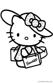 Printable free hello kitty coloring sheets for kids to enjoy the fun of coloring and learning while sitting at home. Hello Kitty Coloring Pages Cartoons Hello Kitty Shopping Printable 2020 3303 Coloring4free Coloring4free Com