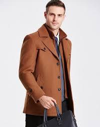 winter wool coat men thick warm jacket mens fashion palto male casual jackets overcoat woolen pea coats plus size