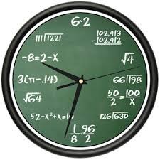 math geek clock