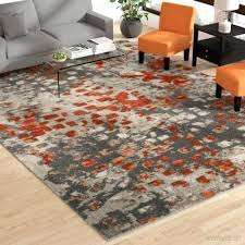 bungalow rose blue area rug gray orange 0