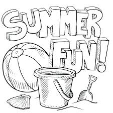 summer coloring sheets for preers pages printable colouring pictures summertime disney free beach