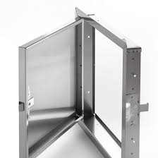heavy duty stainless steel access door for large openings with exposed self latching