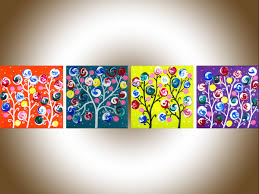 candy land by qiqigallery 24 x6 nursery art set of 4 colorful painting rainbow colors whimsical wall art wall decor abstract swirl flower painting impasto  on whimsical wall art on canvas with candy land by qiqigallery 24 x6 nursery art set of 4 colorful