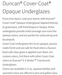 Duncan Concepts Color Chart Fired Products Underglazes Carols Carousel Creations