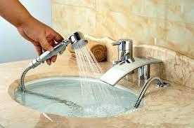 handheld bathtub sprayer bathtub sprayer back to article a choose the best bathtub faucet with sprayer