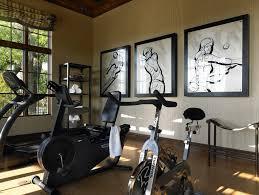 home gym decor ideas home gym contemporary with stationary bicycle