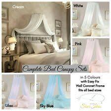 Pale LEMON YELLOW Primrose Voile BED CANOPY Coronet Corona ...