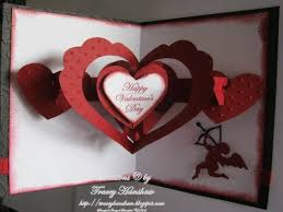 Valentines Day Pop Out Card Front Inside By Traceymay1 Cards