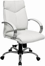 leather desk chairs. Pro Line II Mid Back White Leather Desk Chair [7271] Chairs