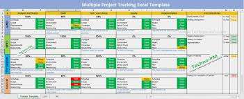 Task Management Excel Sheet Multiple Project Tracking Template Excel Download