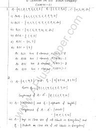 Set Operations And Venn Diagram Ml Aggarwal Icse Solutions For Class 8 Maths Chapter 6 Operation On